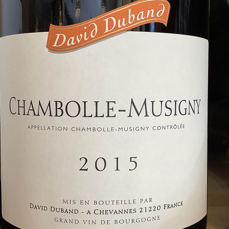 Chambolle-Musigny 015, Domaine David Duband<br>